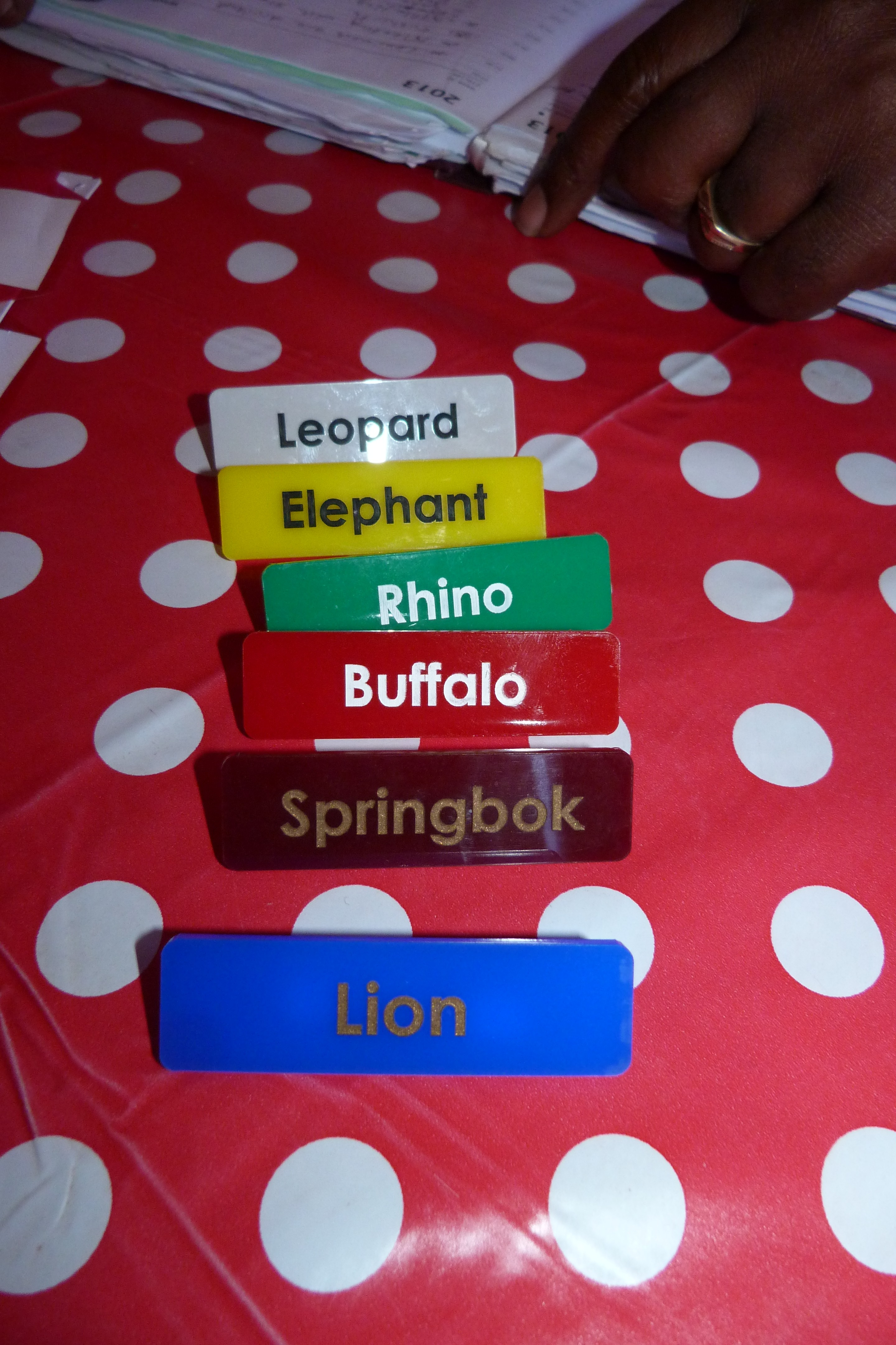 Badges voor de leerlingen
